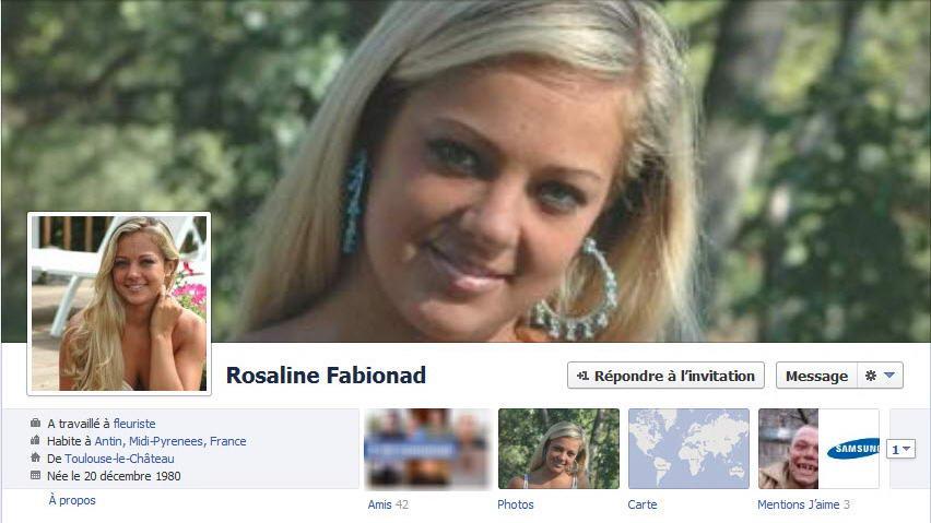 Exemple de faux profil utilisé sur Facebook pour mettre en place des arnaques
